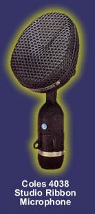 coles  ribbon mic audio recording